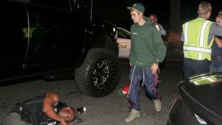 Justin Bieber Runs Over Paparazzo With Monster Truck - Video Youtube