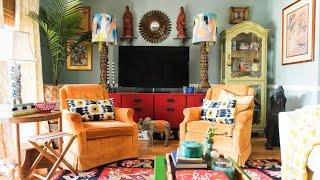 Colorful Maximalism In Boho Home, South Carolina | Interior Design