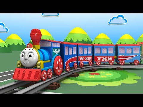 Cartoon Train - Train Videos - Jcb - Cars For Kids - Toys Factory - Kids Railway - Police Cartoon