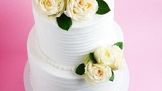 White Frosted Wedding Cake Tutorial- Rosies Dessert Spot