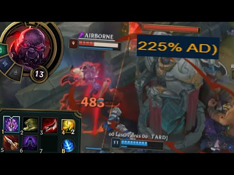 League of Legends but this ability has a 225% AD ratio for no reason so we're full lethality loool