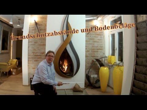 Notwendige Brandschutzabstände und Bodenbeläge beim Kaminofen, Heizkamin usw