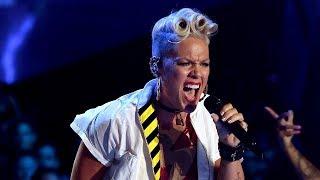 Pink Performs EPIC Medley Of Biggest Hits At 2017 MTV VMAs