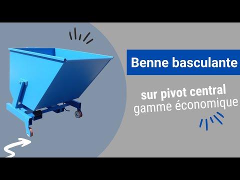 Video Youtube Benne sur pivot central pour charges légères - Capacité 675 à 1125 litres - Charge inférieure à 1000 kg