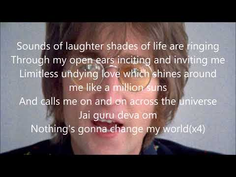 Beatles Across the Universe with lyrics(Outtake)