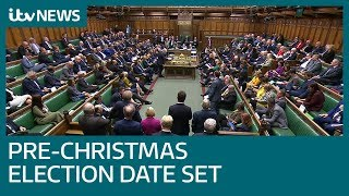 MPs vote for a UK general election on December 12   ITV News