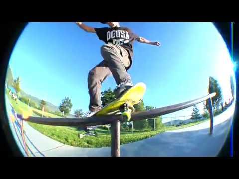 Salty Peaks skate team at Oakley Skate park