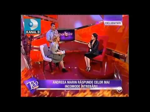 Andreea Marin despre Alege demnitatea si Fii independenta -  Teo Show, 1.09.2015