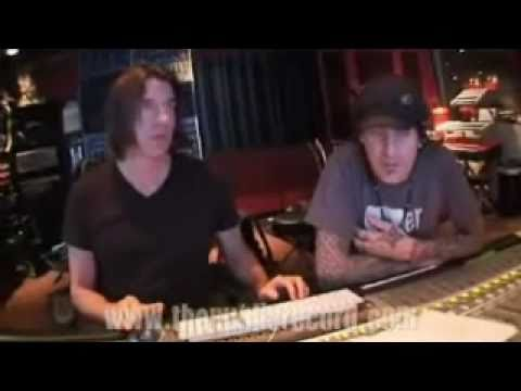 Tommy Lee reviewing Max Watts parts for the 2nd Methods Of Mayhem record
