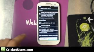 CricketUsers.com - Cricket Wireless Samsung Galaxy S3 Custom Recovery Installation (CMW)