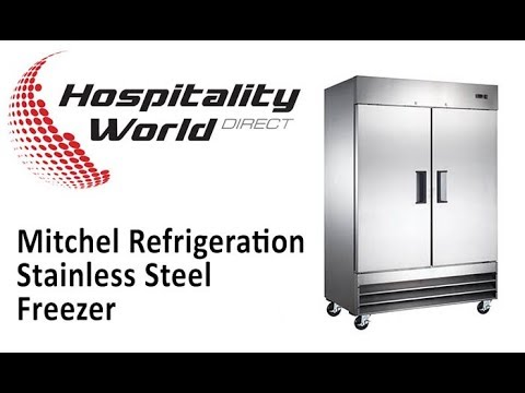 Mitchel Refrigeration Stainless Steel Freezer - Single Door