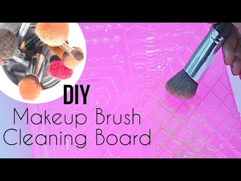 DIY: Makeup Brush Cleaning Board