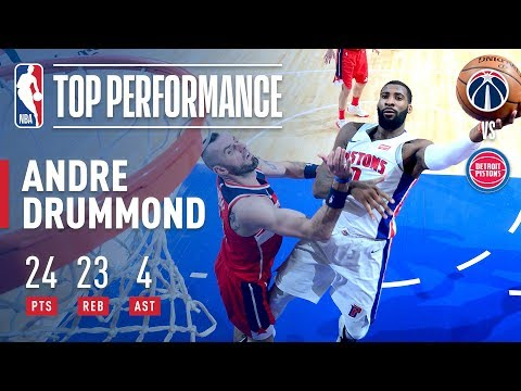 Andre Drummond RISES UP vs The Wizards