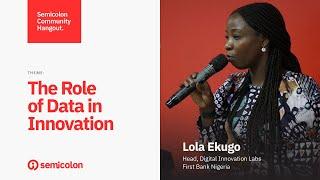 "SCCH February 2020 - ""The Role of Data in Innovation"" - Lola Ekugo"
