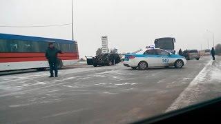 Три аварии на трассе Караганда   Темиртау
