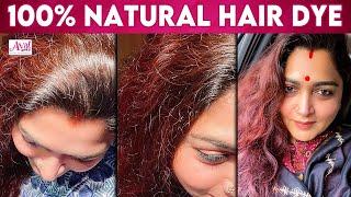 Homemade Hair Colouring By Kushboo Sundar | Hair Dye ,Beetroot Hair Mask | Henna Paste ,Natural Dye