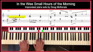 In the Wee Small Hours of the Morning - jazz piano tutorial