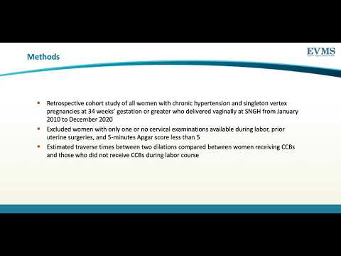 Thumbnail image of video presentation for Effect of calcium channel blockers on the labor curve in pregnant women with chronic hypertension