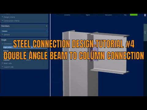 Ram connection Double angle beam to Column design steel connection design