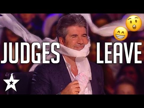 ANGRY AUDITIONS | When JUDGES LEAVE On Got Talent! | Got Talent Global (видео)