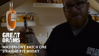 Whisky Review: Masterson's Batch One