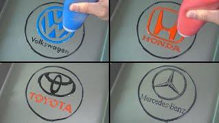 Car Brand Logos Pancake art -  Volkswagen, Honda, Toyota, Mercedes Benz