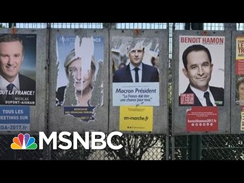 , title : 'President Trump's, Obama's Influence On French Election | Hardball | MSNBC'