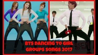 💚 BTS (방탄소년단) dancing to girl groups' songs 2017 💚