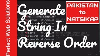 PHP Tutorial Series: How To Display a string in reverse oder using strlen function in php 2017