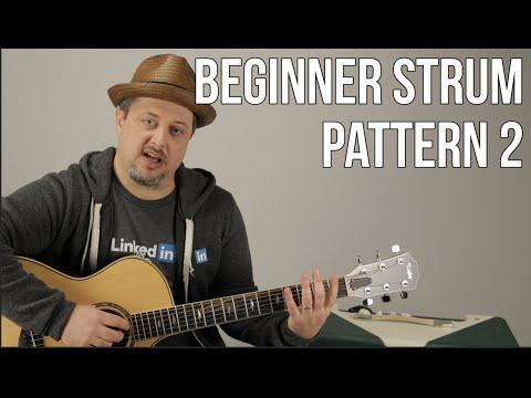 Beginner Strumming Patterns For Acoustic Guitar Pattern 2 - Beginner Guitar Lessons