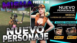 NUEVO PERSONAJE *MISHA* CONFIRMADO! NUEVA ACTUALIZACIÓN DE FREE FIRE