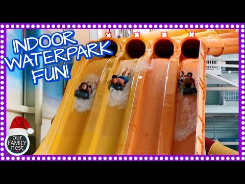 FAMILY TRIP TO AN AMAZING INDOOR WATERPARK RESORT! VLOGMAS DAY 7