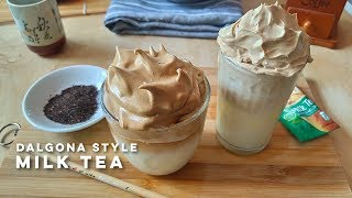 Dalgona Milk Tea | Dalgona Style Milk Tea Recipe | Dairy And Non-Dairy