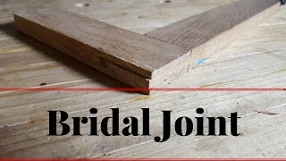 How to Make a bridle Joint With Hand Tools Cut
