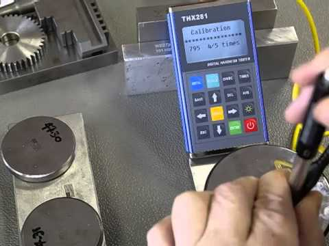 How to calibrate a THX281 portable hardness tester