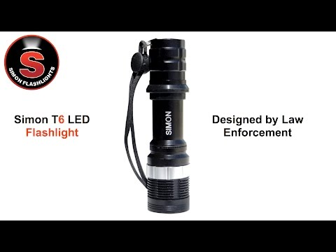Simon T6 Cree Flashlight - Adjustable Close Proximity Duty LED Flashlight