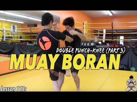 Lesson 113: Muay Boran Double Punch-Knee (part 3)