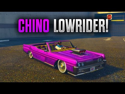 "GTA 5 LOWRIDER DLC - ""LOWRIDER CHINO CUSTOMIZATION"" ""LOWRIDER NEW UPGRADED CARS"" - (New GTA DLC!)"