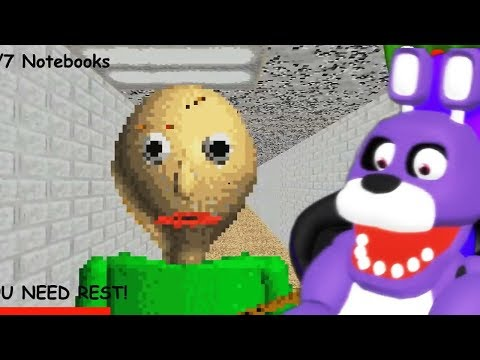 FNAF Bonnie Plays Baldi's Basics in Education and Learning Game
