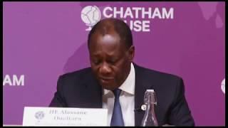 Le President Alassane Ouattara se prononce sur l'eco à Chatham House – 21 Janvier 2020