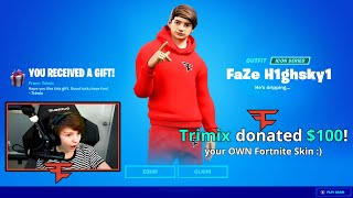 Surprising YOUTUBERS with their *OWN* Fortnite Skin!