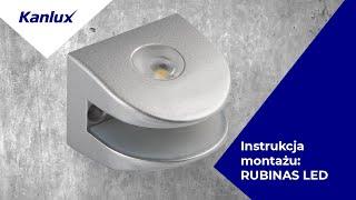 Rubinas - montaż dekoracyjnej oprawy meblowej LED Kanlux