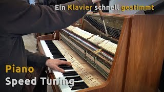 Piano Speed Tuning - Klavierstimmen in Rekordzeit