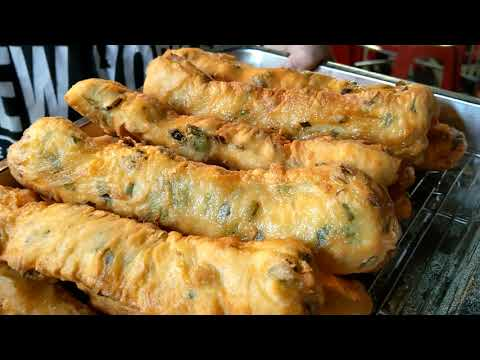 Green Onion pancake-Taiwanese street food