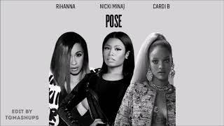 Rihanna   Pose Ft. Nicki Minaj & Cardi B (Audio)