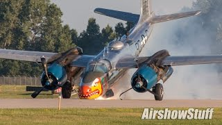 A-26 Invader Nose Gear Collapse On Landing