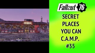 Fallout 76 Secret Places you can CAMP #35 Lakeside Grill