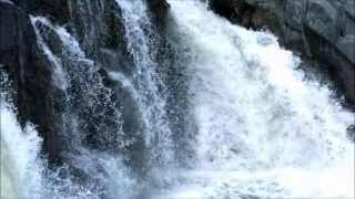 Slow Motion Water Falling Compilation Waterfalls Rivers Fountains Walls in 1080p HD Video and Music