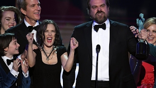 David Harbour - Powerful Anti Trump Speech SAG Awards HD