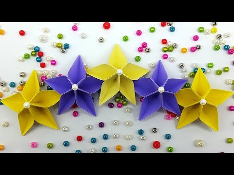 Paper origami flower making ukrandiffusion diy paper flowers easy making tutorial origami flower paper mightylinksfo